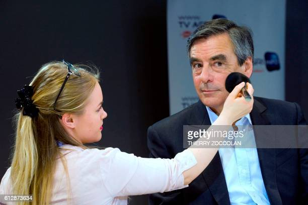 Candidate for the rightwing Les Republicains party primaries ahead of the 2017 presidential election former Prime minister and member of the...