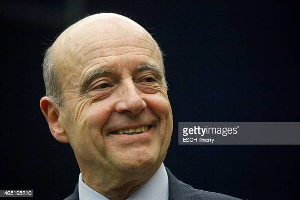 Candidate for the UMP 2016 Primary Alain Juppe on February 18 2015 in Olivet France