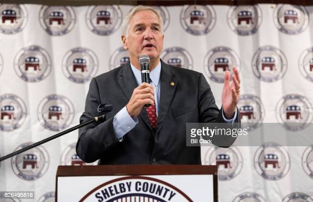 GOP candidate for US Senate Sen Luther Strange RAla speaks during the US Senate candidate forum held by the Shelby County Republican Party in Pelham...