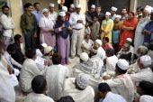 Candidate from Ghaziabad constituency Shazia Ilmi holding a public meeting while campaigning for general elections 2014 on March 27 2014 in Ghaziabad...