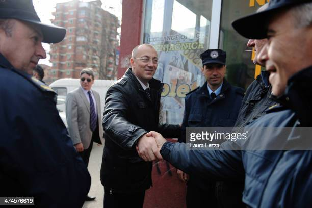Candidate Goran Rakic is seen at a polling station during the elections day in Mitrovica North to elect the Mayor on February 23 2014 in Mitrovica...