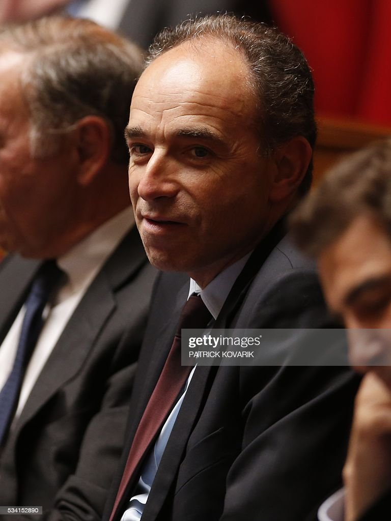 Candidate in the French right-wing opposition Les Republicains party presidential primary ahead of the 2017 presidential elections, Jean-Francois Cope attends a session of Questions to the Government, on May 25, 2016 at the National Assembly in Paris.