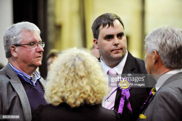 UKIP candidate Kerry Smith who won the Basildon Westley Heights ward at the Towngate Theatre in Basildon during the local elections count and...