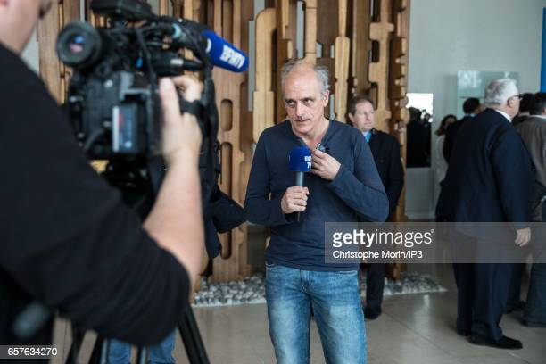 Candidate of the 'Nouveau Parti Anticapitaliste' for the 2017 French Presidential Election Philippe Poutou attends a gathering of the Association of...