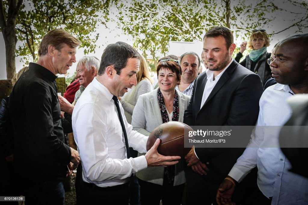French Presidential Candidate Benoit Hamon Holds Meeting in Bordeaux