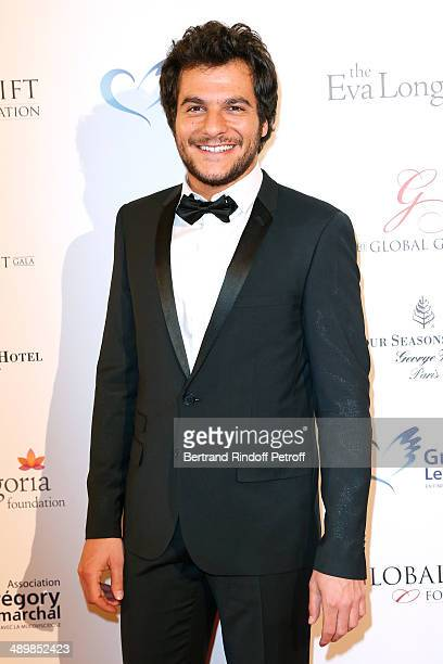Candidate of 'The Voice France 2014' Amir Haddad attends the 'Global Gift Gala' 2014 Charity Dinner at the Four Seasons Hotel on May 12 2014 in Paris...