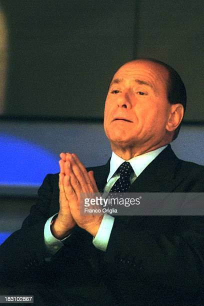 Candidate Prime Minister Silvio Berlusconi attends the 'Maurizio Costanzo Show' popular talk show on Berlusconi's channel Canale 5 part of Mediaset...