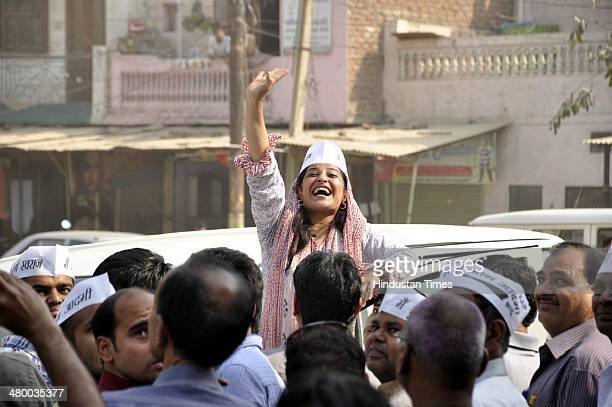 AAP candidate Shazia Ilmi carried out an election campaign in old city areas of Ghaziabad and colonies which have poor civic facilities and...