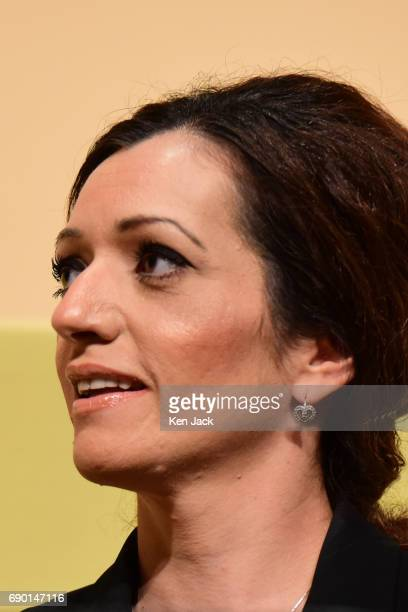SNP candidate Tasmina AhmedSheikh at the launch of the SNP general election manifesto after it was delayed for a week in the aftermath of the...