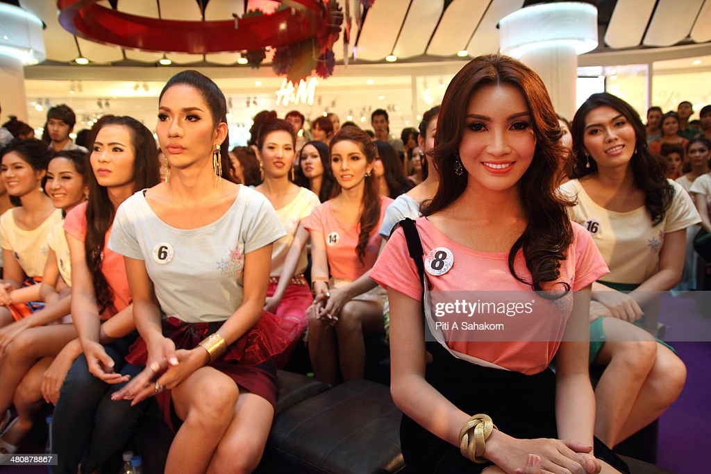 Candidates during qualification for the transvestite and transgender beauty pageant Miss Tiffany Universe 2014. About 70 candidates registered for the contest. The Miss Tiffany Universe contest has been running for 16 years, with all of the transexual or transvestite contestants, aiming to promote human rights for the transgender population in Thailand.
