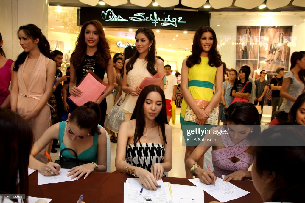 Candidates during the registration process for the transvestite and transgender beauty pageant Miss Tiffany Universe 2014. About 70 candidates registered for the contest. The Miss Tiffany Universe contest has been running for 16 years, with all of the transexual or transvestite contestants, aiming to promote human rights for the transgender population in Thailand.