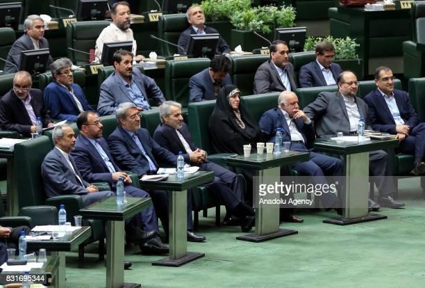 Candidates for Iran's Minister of Interior Abdolreza Rahmani Fazli Minister of Petroleum Bijan Namdar Zangeneh and Minister of Health Hassan...