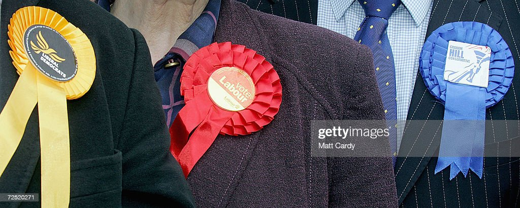 Candidates for the marginal seat of Bristol West line up for a photocall April 24 2005 in Bristol England The seat currently held by Labour is being...