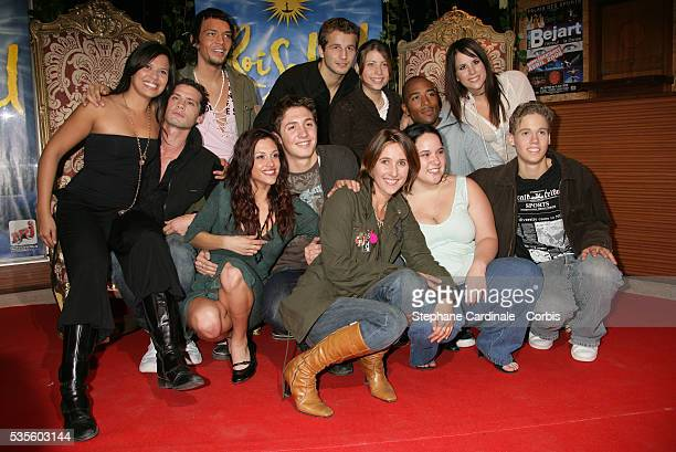 Candidates of television show Star Academy 5 with Alexia Laroche Joubert
