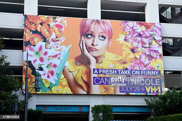 Candidly Nicole poster is displayed at VH1's 'Candidly Nicole' Season 2 Premiere Event at House of Harlow at The Grove on July 7 2015 in Los Angeles...