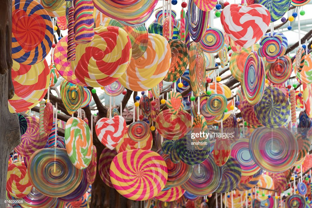 Candies and lollipops : Stock Photo