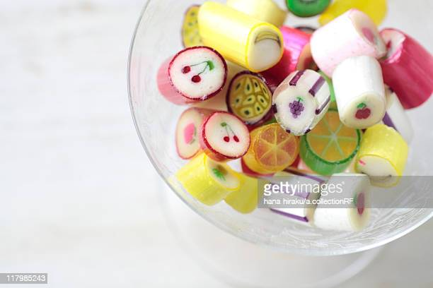 Candies in a bowl