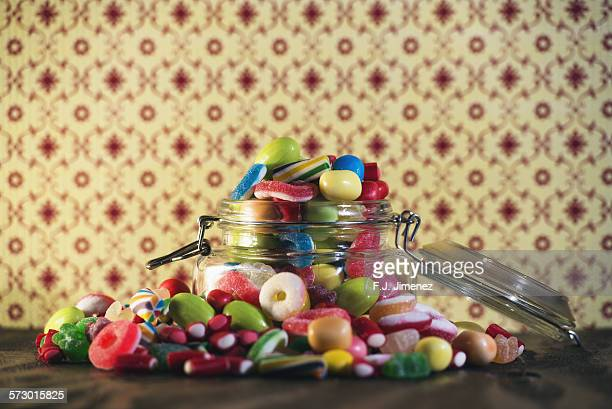 Candies in glass jar