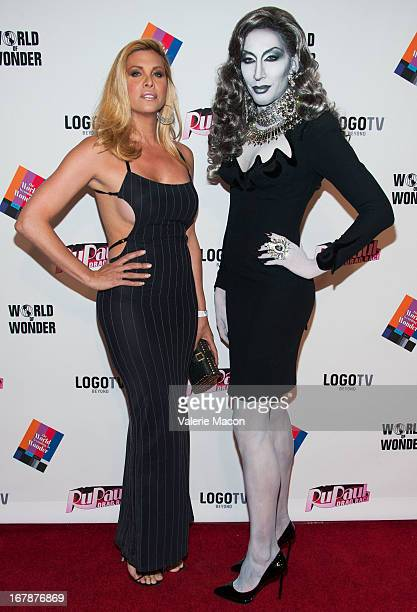 Candis Cane and Detox attends the Finale Reunion Coronation Taping Of Logo TV's 'RuPaul's Drag Race' Season 5 on May 1 2013 in North Hollywood...