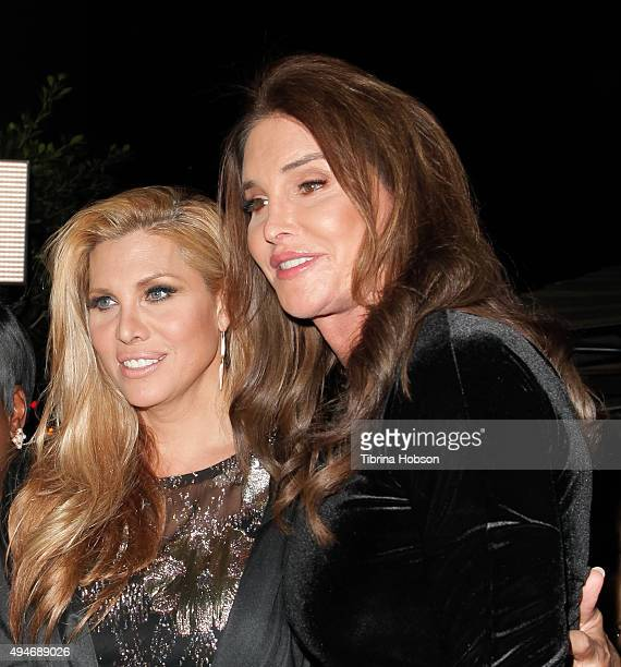 Candis Cayne and Caitlyn Jenner attend Logo TV's 'Beautiful As I Want To Be' web series launch party at The Standard Hotel on October 27 2015 in Los...