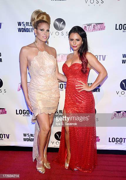 Candis Cayne and Jenni 'JWoww' Farley attend Logo TV's Official Pride NYC 2013 Event at Highline Ballroom on June 30 2013 in New York City