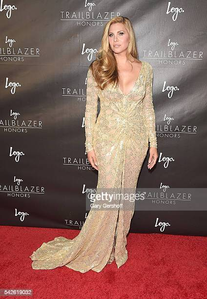 Candis Cayne attends 2016 Logo's Trailblazer Honors at Cathedral of St John the Divine on June 23 2016 in New York City