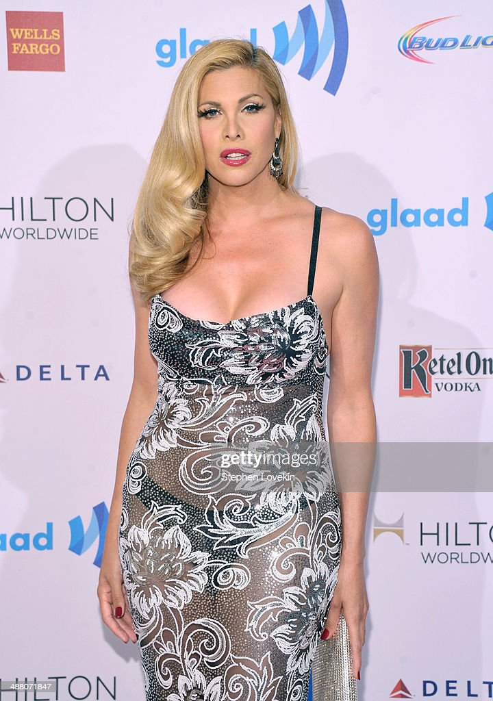 <a gi-track='captionPersonalityLinkClicked' href=/galleries/search?phrase=Candis+Cayne&family=editorial&specificpeople=2852599 ng-click='$event.stopPropagation()'>Candis Cayne</a> attends the 25th Annual GLAAD Media Awards on May 3, 2014 in New York City.