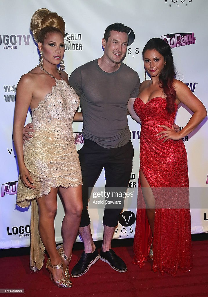 Candis Cayne, Brandon Voss and TV personality Jenni 'Jwoww' Farley attend Logo TV's Official Pride NYC 2013 Event at Highline Ballroom on June 30, 2013 in New York City.