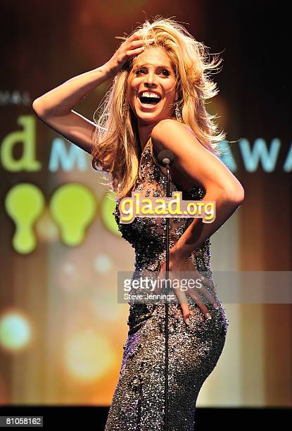 Candis Cayne hosts the 19th Annual GLAAD Media Awards at the Marriott Hotel on May 10 2008 in San Francisco California