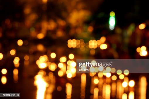 Candle bokeh background. : Stock Photo