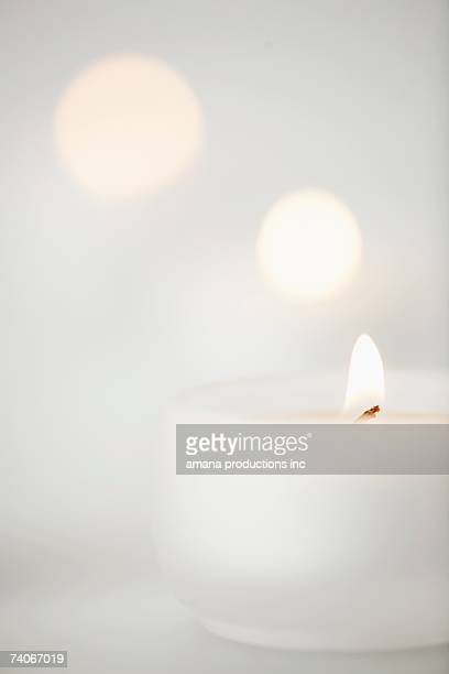 Candle burning (close-up)