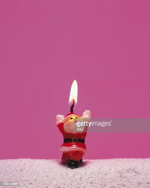 Candle of Santa Claus, Front View, Close Up, Copy Space