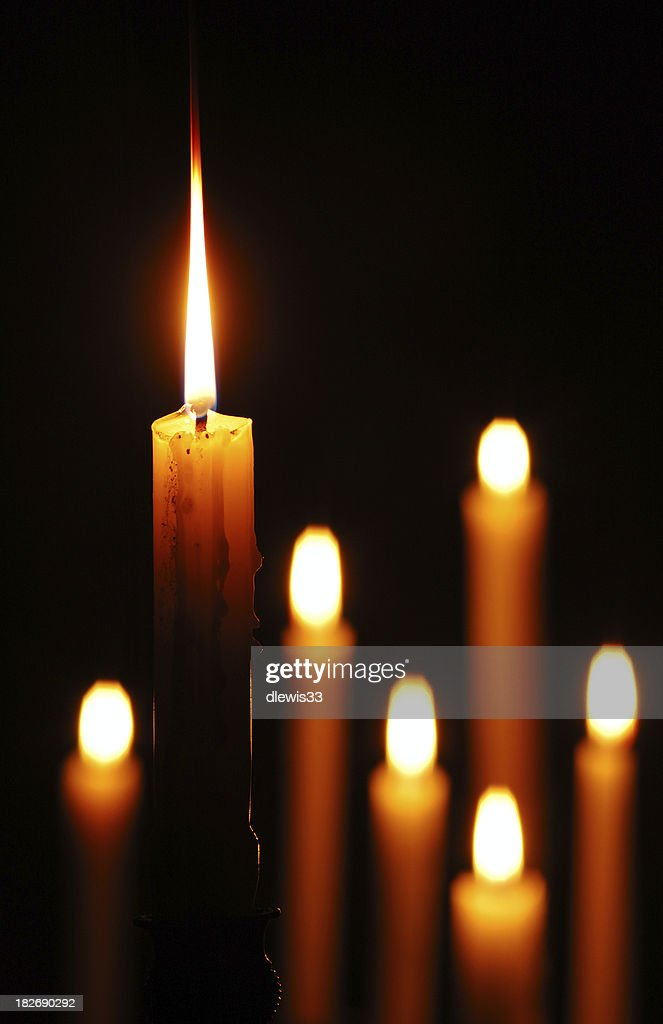 Candle Standing Out : Stock Photo