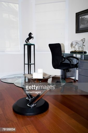 Candle with a tray on a table : Stock Photo