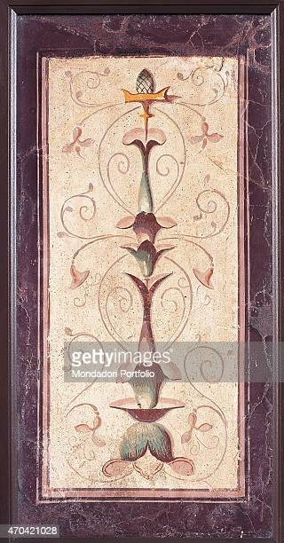 'Candleholder by unknown artist 2010 1st Century BC ripped fresco 82 x 44 cm Italy Campania Naples National Archaeological Museum Room LXIX inv 9762...