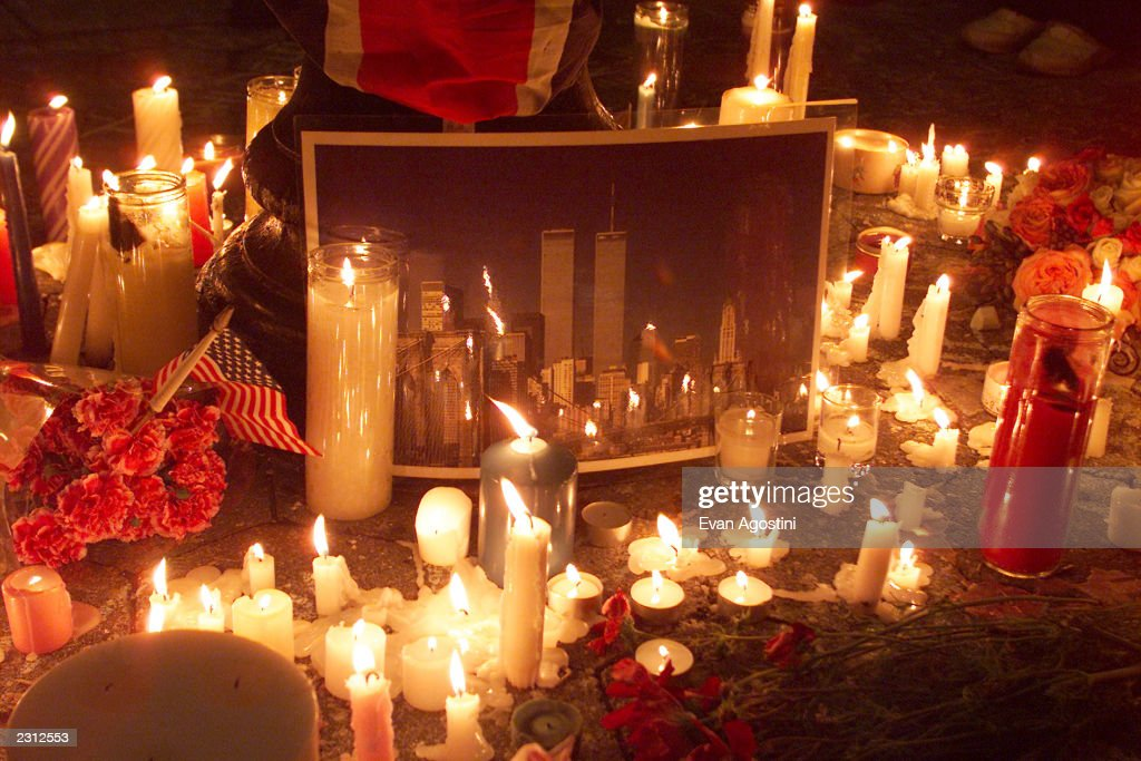 Candlelight vigil for peace and remembrance at Union Square in New York City following the World Trade Center and Pentagon terrorist attacks...