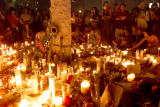 Candlelight vigil for the victims of the World Trade Center terrorist attack at Union Square in New York City 9/13/2001 Photo Evan...
