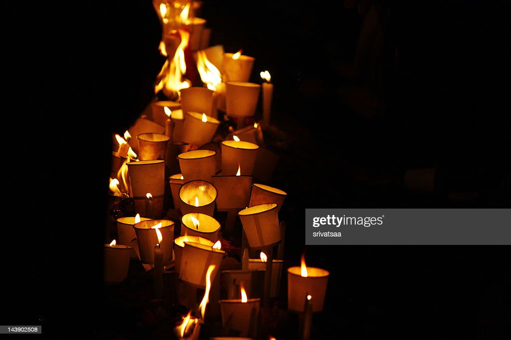 Candlelight vigil in remembrance of 100000+ Eezham : Stock Photo