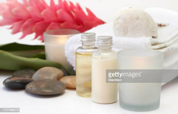 candle-lit bath items
