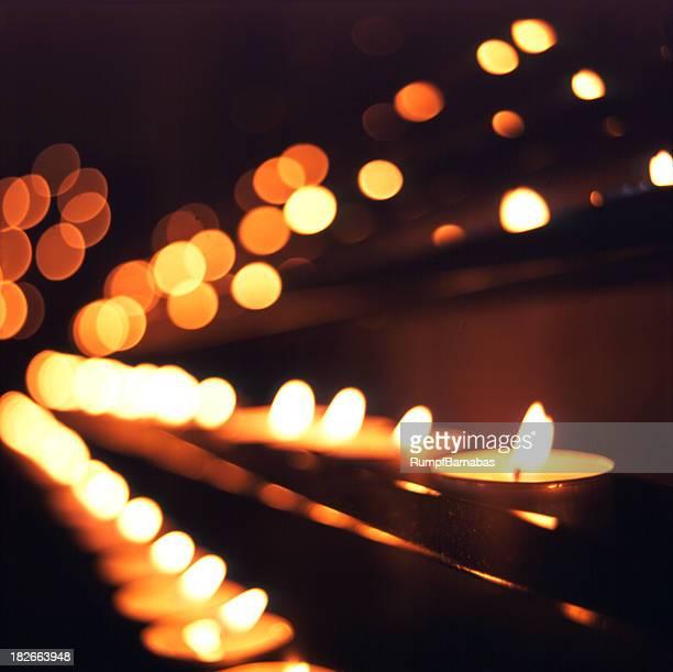 Bougies à l'église