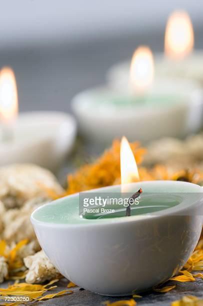 Candles, close-up