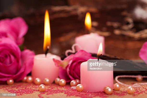 Des bougies de décoration