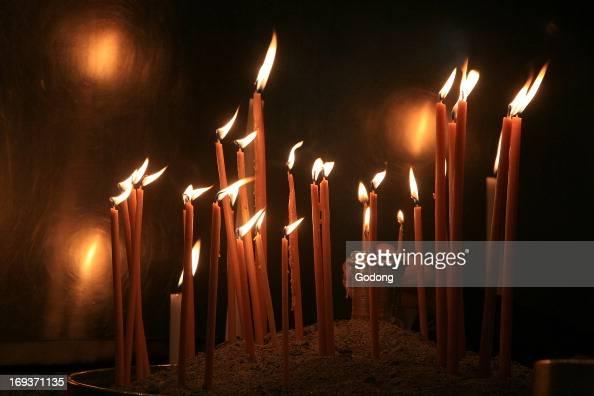 Candles in a Greek orthodox church