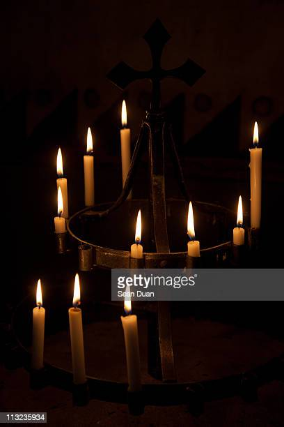 Candles in  Carmel Mission