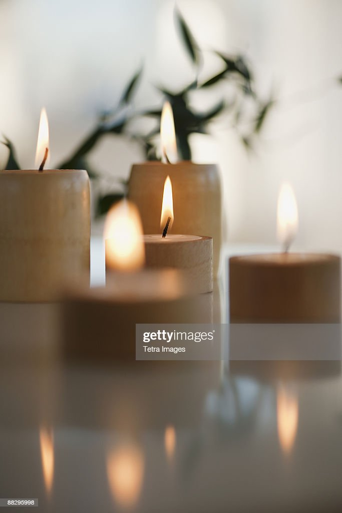 Candles in spa : Stock Photo