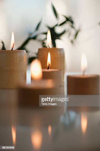 Candles in spa