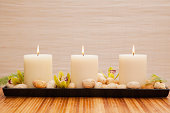 Candles in spa, Studio Shot