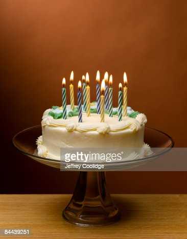 Candles on Birthday cake