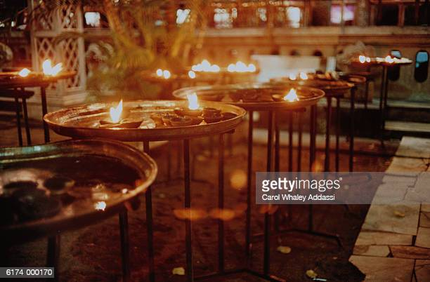 Candles on Cafe Tables