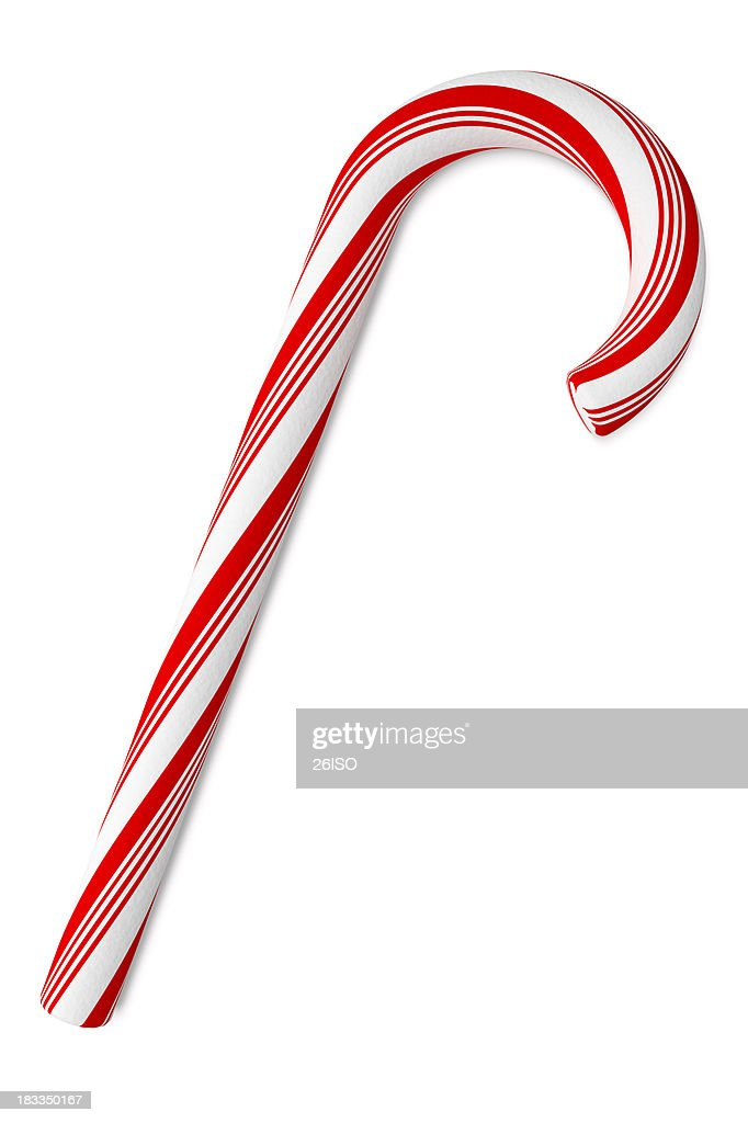 'Candy Cane on White Background, with Clipping Path (XXXL)'
